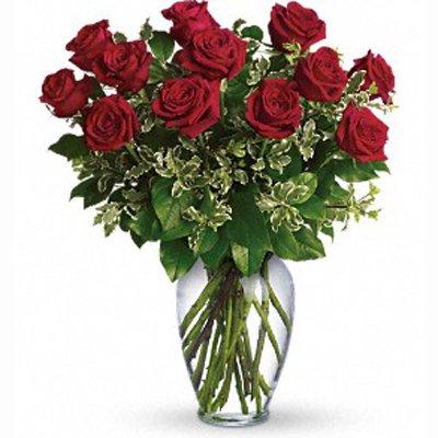 ורדים מעוצב באדום - פרחי שובל - בלפור 137 בת ים