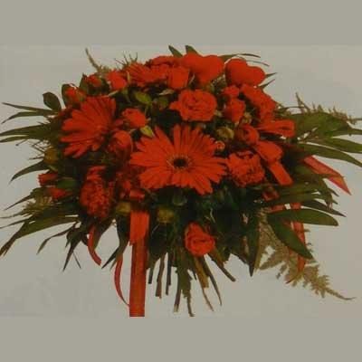 זר אדום 18 - פרחי אוריינטל - אור יהודה