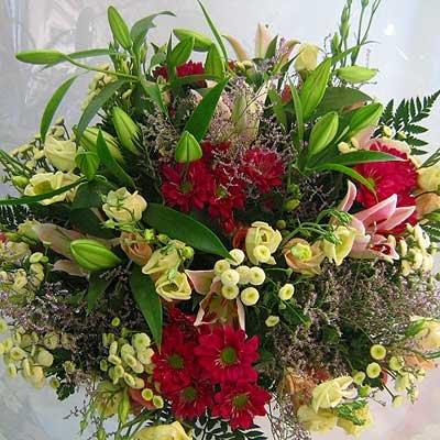 זר אלגנט בגוונים ורוד לבן 09 - פרחי אוריינטל - אור יהודה