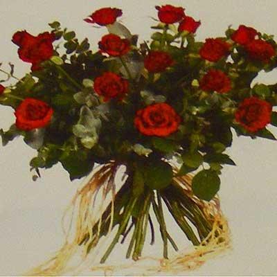 זר ורדים אדומים 27 - פרחי אוריינטל - אור יהודה