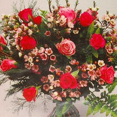 זר ורדים ורוד 17 - פרחי אוריינטל - אור יהודה