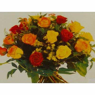 זר ורדים צבעוני 25 - פרחי אוריינטל - אור יהודה