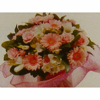 זר ורוד בייבי 24  - פרחי אוריינטל - אור יהודה