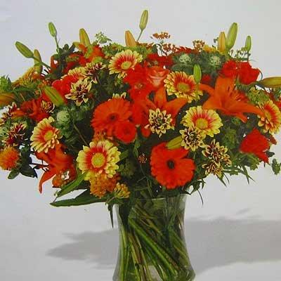 זר כתום 08 - פרחי אוריינטל - אור יהודה