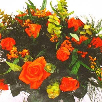 זר כתום 28 - פרחי אוריינטל - אור יהודה