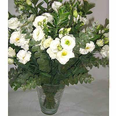זר לבן חגיגי 14 - פרחי אוריינטל - אור יהודה