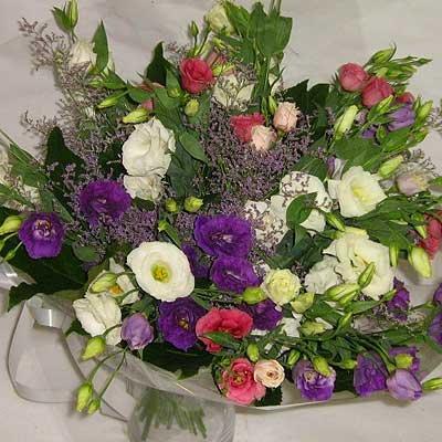 זר לזינטוס צבעוני 22  - פרחי אוריינטל - אור יהודה