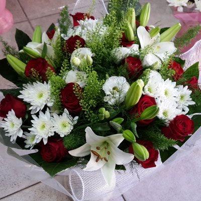 אדום לבן - פלורנס פרחים - נהריה