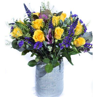 אהבה בסגול וצהוב - פרח בר - עמק חפר