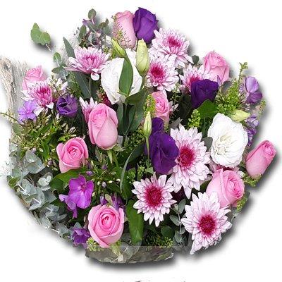 ורדים וליזיאנטוס - זר לפורח - ירושלים