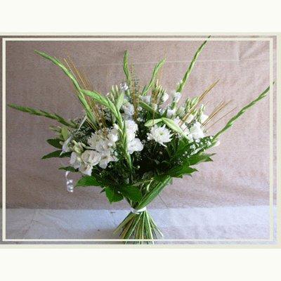 זר בלבן - פרחי אורית - עכו