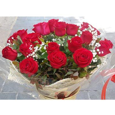 זר ורדים אדומים - זר לפורח - ירושלים