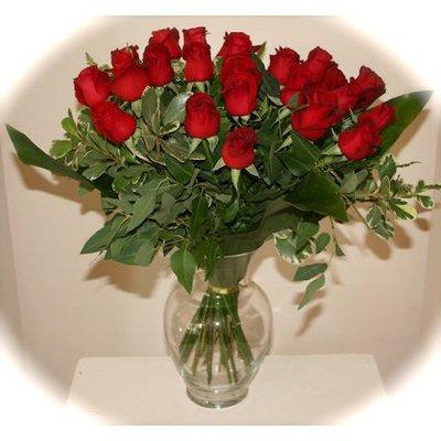 זר ורדים אדומים - אורכידאה פרחים - חדרה