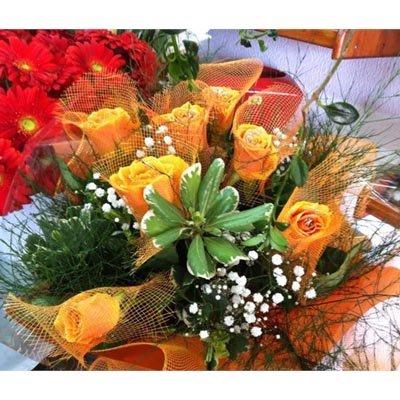 זר ורדים צהובים - פרחי ויולט - אריאל