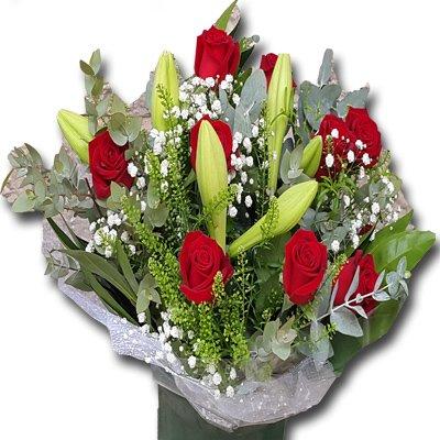 זר ורדים שושן צחור - זר לפורח - ירושלים