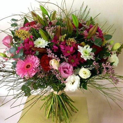 זר ורוד - אורכידאה פרחים - חדרה