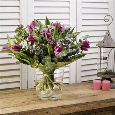 זר חורפי טוליפים (בעונה) - בר פרחים וכלים - אשקלון