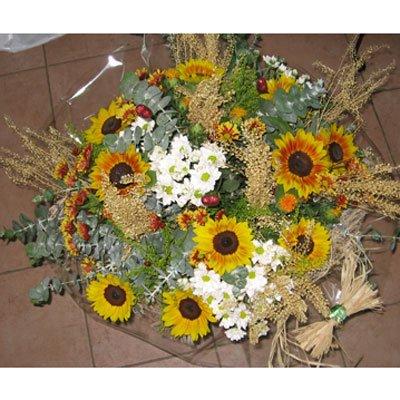 זר חמניות וחרציות - פרחי אודי ודורית - קרית אתא