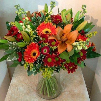 זר כתום - אורכידאה פרחים - חדרה