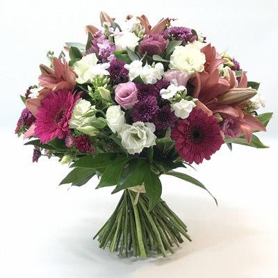 זר לבן ורוד - אורכידאה פרחים - חדרה