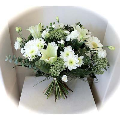 זר לבן - אורכידאה פרחים - חדרה