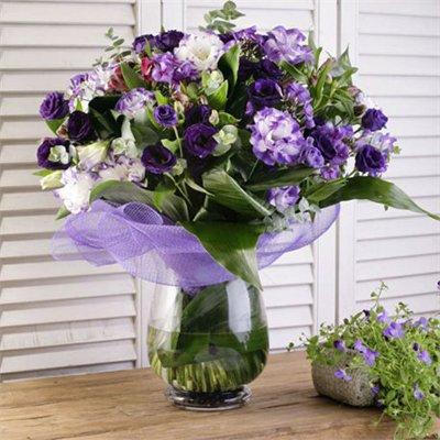 זר סגולים - בר פרחים וכלים - אשקלון
