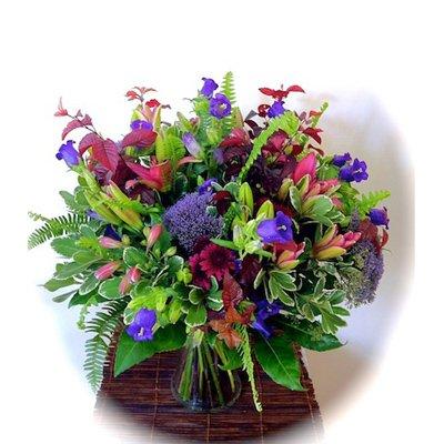 זר סגול - אורכידאה פרחים - חדרה