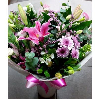 זר 10 ורודים - פרחי צבר - רמת השרון