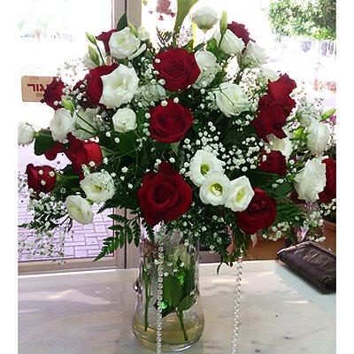 זר פרחים 1  - פרחי דליה – לוד - לוד
