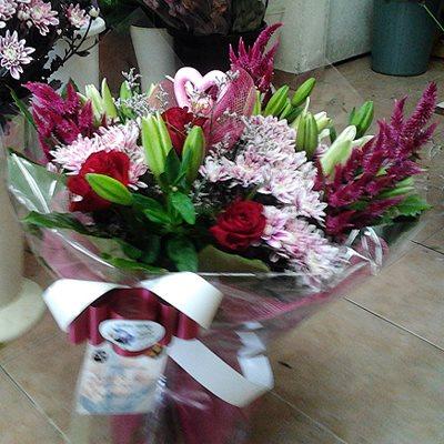 זר פרחים 10 - פרחי דליה – לוד - לוד