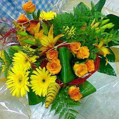 זר 19 - פרחי ספיר - באר שבע