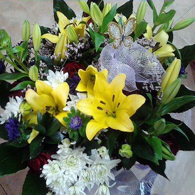 זר פרחים 2 - פרחי דליה – לוד - לוד