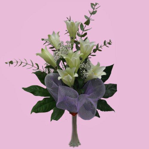 שושן צחור זר אלגנטי 283 - פרחי לב - כרמיאל
