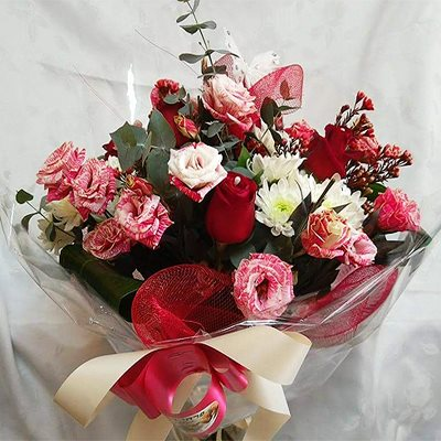 זר פרחים 3 - פרחי דליה – לוד - לוד