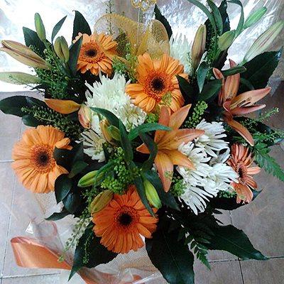 זר פרחים 4  - פרחי דליה – לוד - לוד
