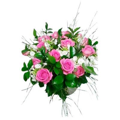 413 זר ורדים סגול - הפינה הירוקה - בית שמש