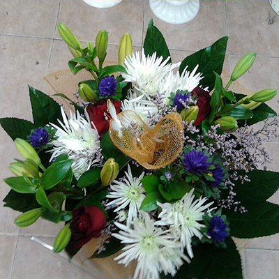 זר פרחים 7 - פרחי דליה – לוד - לוד