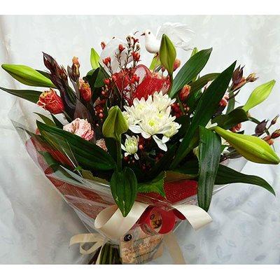 זר פרחים 8 - פרחי דליה – לוד - לוד