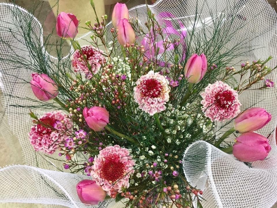 זר צבעוני מעורב  - פרחי ויולט - אריאל