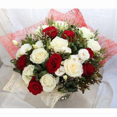 אדום לבן רומנטי - פרחי גולד - רחובות