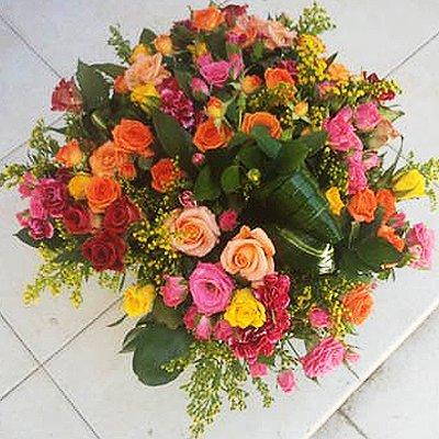 זר ורדים צבעוני - פרחי גולד - רחובות