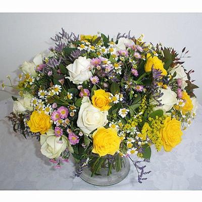 זר פורח - פרחי גולד - רחובות