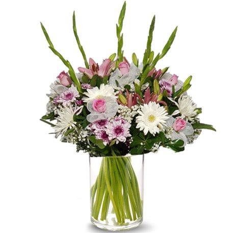 ורוד לבן אקסלוסיבי - פרחי לב הגליל - טבריה