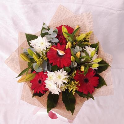 זר פרחים 17 - פרחי דליה – לוד - לוד