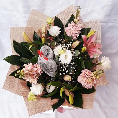 זר פרחים 21 - פרחי דליה – לוד - לוד