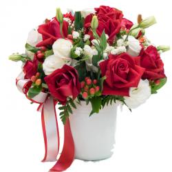 אדום ולבן - חיה'לה פרחים - חיפה