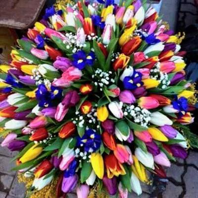 זר טוליפים - פרח באהבה - אילת