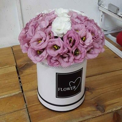פלאוורס בוקס ליזי ורוד - פרח באהבה - אילת