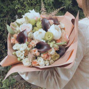 זר וינטג' כתומים - בר פרחים וכלים - אשקלון