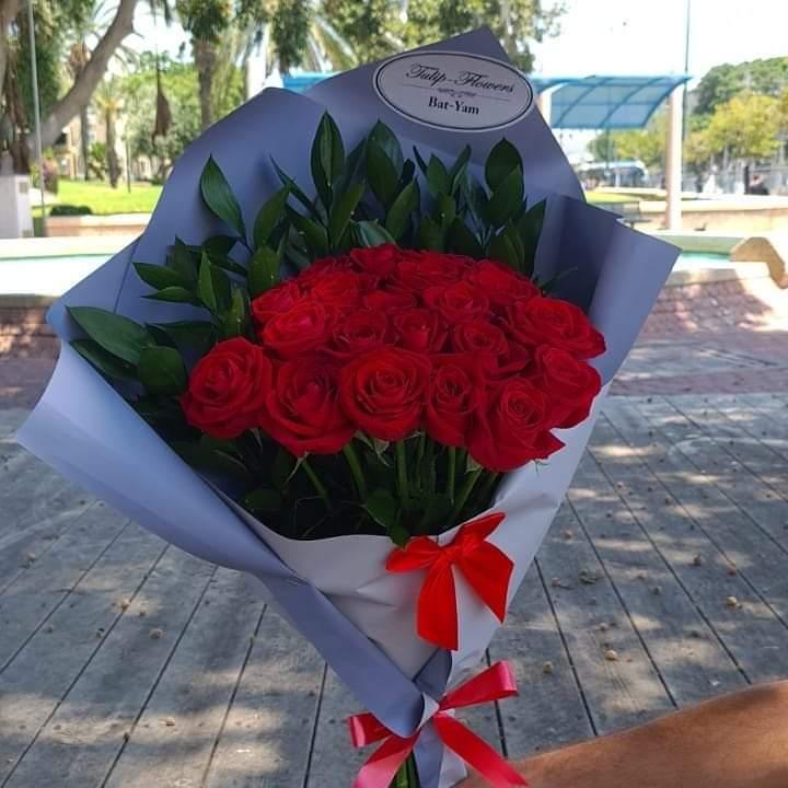 נטו ורדים (23)  - פרחי טוליפ - בת ים